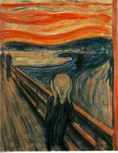 El Grito de Edward Munch, Museo de Oslo (Noruega), se desconoce fecha.